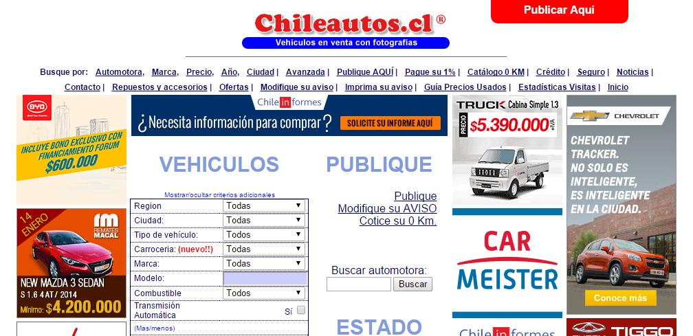 Las p ginas de autos usados m s visitadas en chile for Fotomurales chile precios