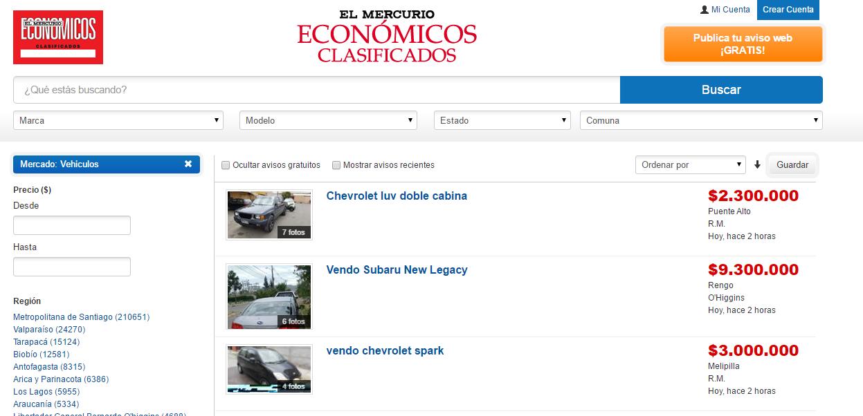 Para complementar información de la página y las publicaciones en El Mercurio, puedes visitar automoviles.emol.com